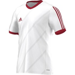 Clothing Men short-sleeved t-shirts adidas Originals Tabela 14 Climalite Junior White