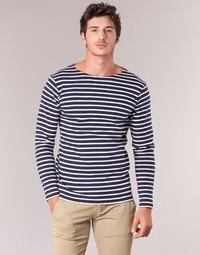 Clothing Men Long sleeved tee-shirts Armor Lux GELGA Marine / White