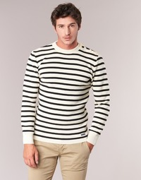 Clothing Men jumpers Armor Lux GROIM White / Marine