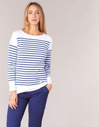 Clothing Women Long sleeved tee-shirts Armor Lux ROADY White / Blue