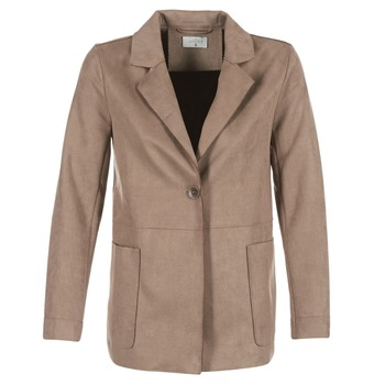 Clothing Women coats Casual Attitude HAUPE Taupe