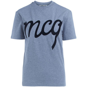 Clothing Women short-sleeved t-shirts McQ Alexander McQueen T-Shirt  Alexander McQueen in grey cotton with embroidered logo Grey