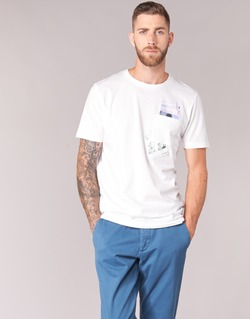Clothing Men short-sleeved t-shirts Jack & Jones CHECK ORIGINALS White
