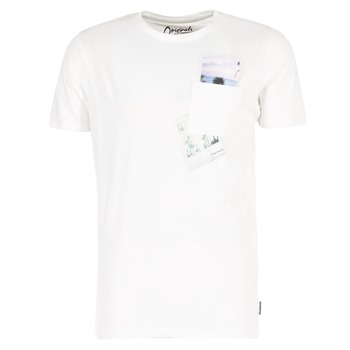 Clothing Men short-sleeved t-shirts Jack & Jones CHECK ORIGINALS White