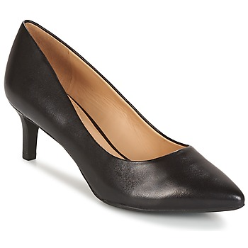 Shoes Women Heels Geox D ELINA C - CAPRA NAPPATA Black