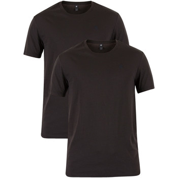 Clothing Men Short-sleeved t-shirts G-Star Raw 2 Pack Crew T-Shirts black