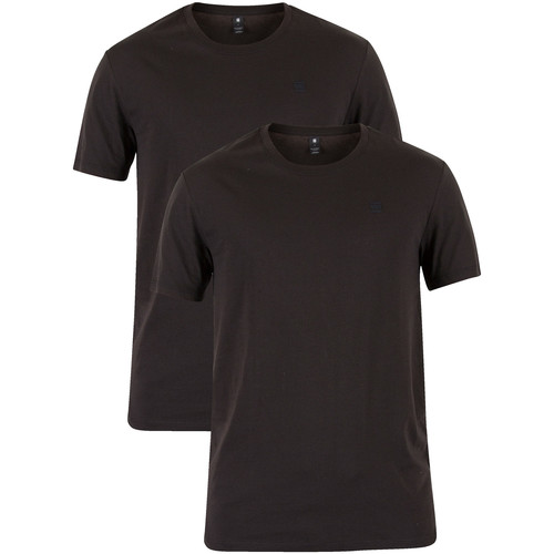 Clothing Men Short-sleeved t-shirts G-Star Raw 2 Pack Crew T-Shirts black