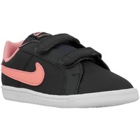 Shoes Children Low top trainers Nike Court Royale Tdv Pink-Black