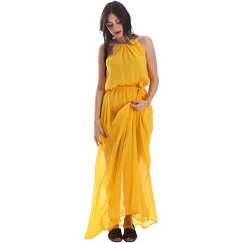 Clothing Women Long Dresses Gaudi 73FD15242 Dress Women Yellow Yellow