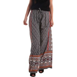 Clothing Women Wide leg / Harem trousers Gaudi 73FD25200 Trousers Women Black Black
