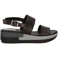 Shoes Women Sandals Grace Shoes 10253 Wedge sandals Women Black Black