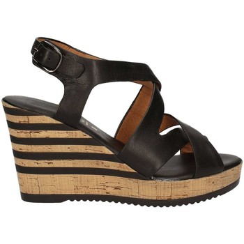 Shoes Women Sandals Grace Shoes 55409 Wedge sandals Women Black Black