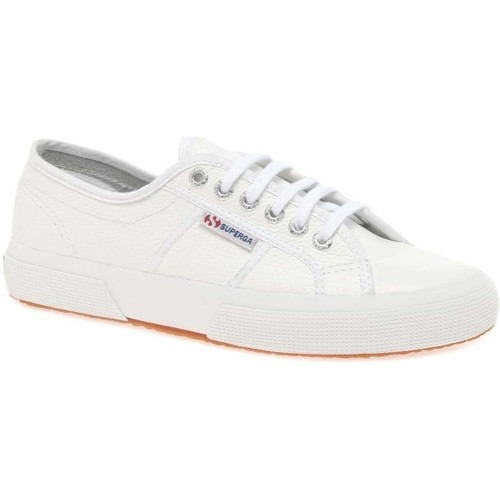 Shoes Women Low top trainers Superga Cotu Womens Casual Lace Up Shoes white