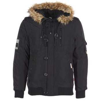 Clothing Men Duffel coats Lonsdale JARRETH Black