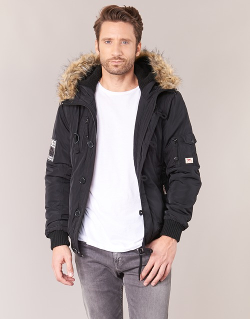 Clothing Men Duffel coats Lonsdale JARRETH Black