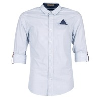 Clothing Men long-sleeved shirts Scotch & Soda DARLU White / Blue