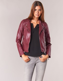 Clothing Women Leather jackets / Imitation leather Vero Moda KERRI Bordeaux