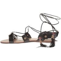 Shoes Women Sandals Nice Shoes Sandale  Noir attache corde SP7085-NR Black