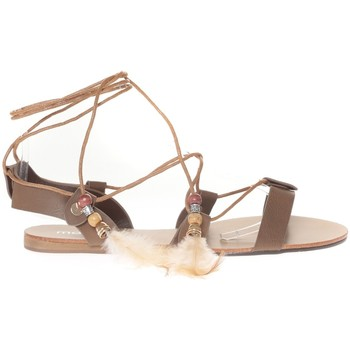 Shoes Women Sandals Vera & Lucy Sandale  Taupe attache corde SP7085-TP Brown