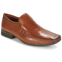 Shoes Men Loafers Clarks Ferro Step TAN / Leather