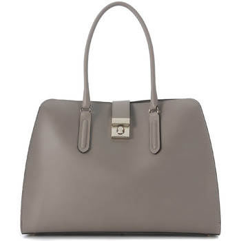 Bags Handbags Furla Milano sand leather handbag Grey