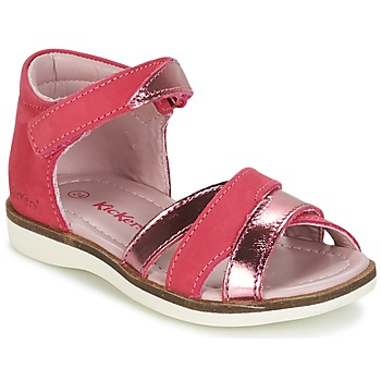 Shoes Girl Sandals Kickers GIGI Fuschia / Pink / METAL