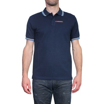 Clothing Men short-sleeved polo shirts Prada - Slim Fit Men's Polo SJJ887 bleu