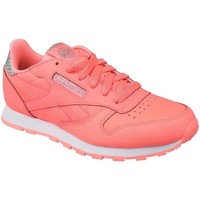 Shoes Children Low top trainers Reebok Sport Classic Leather Pink