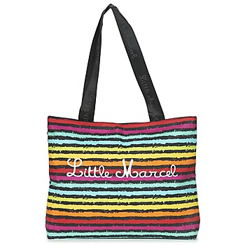 Bags Women Shopping Bags / Baskets Little Marcel MIRAGE Black / Multicoloured