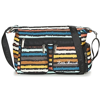 Bags Women Shoulder bags Little Marcel NANCY Black / Multicoloured