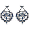 Watches Women Earrings Fashionvictime Earrings For Women By  - Base Metal Jewel Bleu