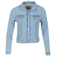 Clothing Women Denim jackets Yurban HELEFI Blue / Clear