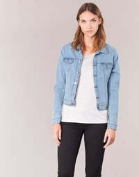 Clothing Women Denim jackets Yurban IHELEFI Blue / Clear