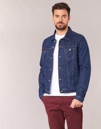 Clothing Men Denim jackets Yurban HEDEM Blue / Raw
