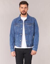 Clothing Men Denim jackets Yurban IHEDEM Blue / Medium