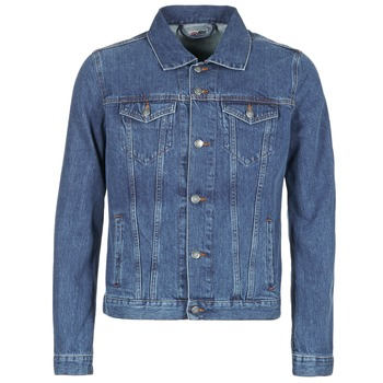 Clothing Men Denim jackets Yurban HEDEM Blue / Medium