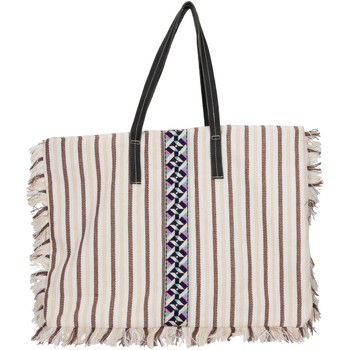 Bags Women Handbags Lollipops Large striped canvas tote TILE