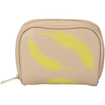 Bags Women Purses Lollipops Feather print purse BEIGE