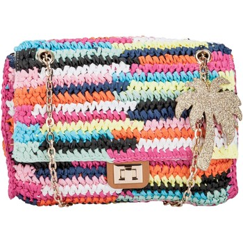 Bags Women Shoulder bags Lollipops Colourful woven straw wallet with chain shoulder strap ELECTRO