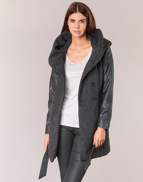 Clothing Women coats Only MARY LISA Grey