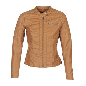 Clothing Women Leather jackets / Imitation leather Only READY COGNAC