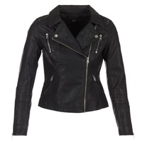 Clothing Women Leather jackets / Imitation leather Only MADDY Black