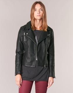 Clothing Women Leather jackets / Imitation leather Only MADDY Black