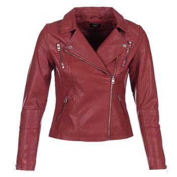 Clothing Women Leather jackets / Imitation leather Only MADDY Red