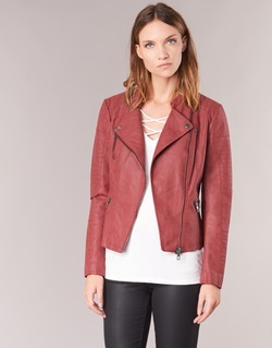 Clothing Women Leather jackets / Imitation leather Only AVA Red