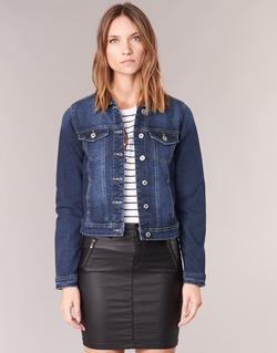 Clothing Women Denim jackets Only WESTA Blue / Dark