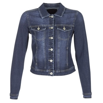 Clothing Women Denim jackets Only WESTA Blue / Dark