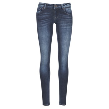 Clothing Women slim jeans Only DYLAN Blue / Dark