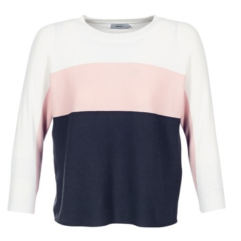 Clothing Women jumpers Only REGITZE White / Pink / MARINE