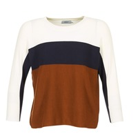 Clothing Women jumpers Only REGITZE White / MARINE / Brown